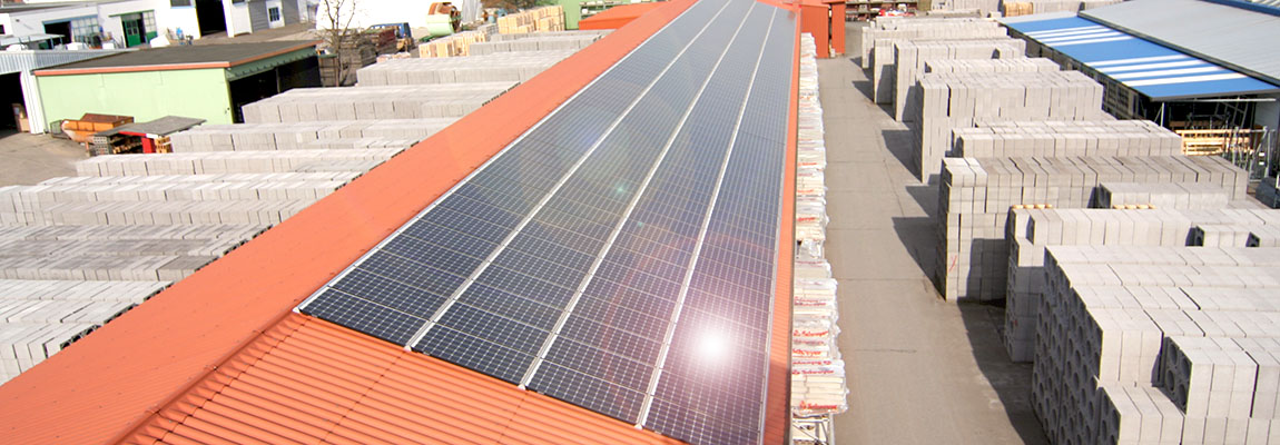 60 KW Solarpower im Werk Zeven