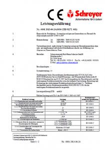 Schornstein Leistungserklärung